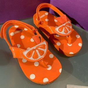 Gymboree Citrus Cooler Sandals Orange Girls 5/6